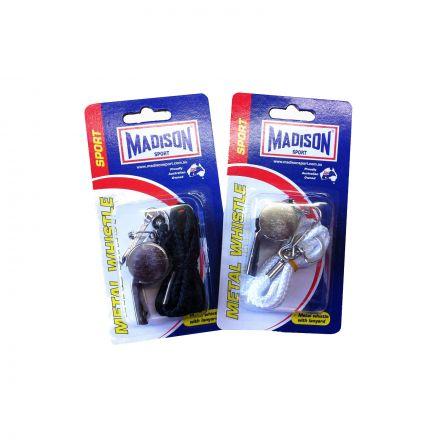 Madison Metal Whistle With Lanyard