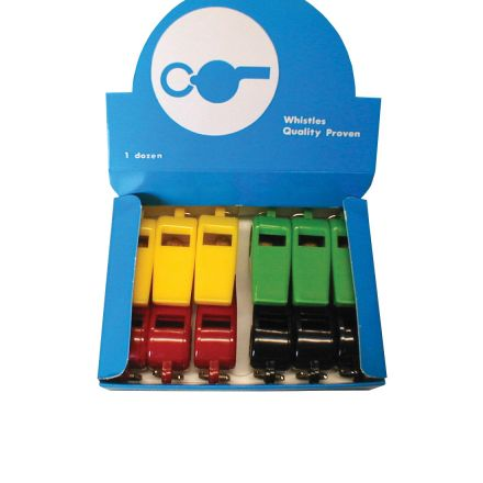 Plastic Whistles - Assorted Colours