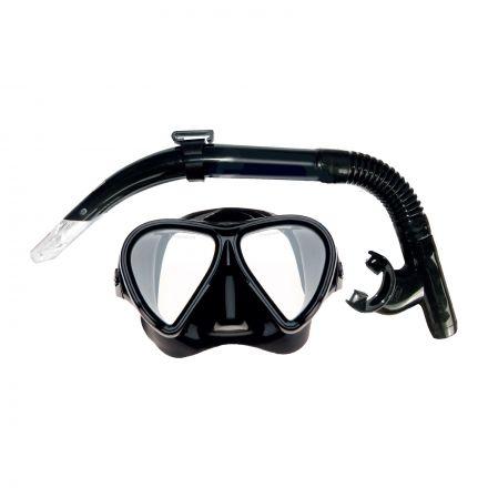 Mirage Set81 Stealth Adult Mask & Snorkel Set - Black