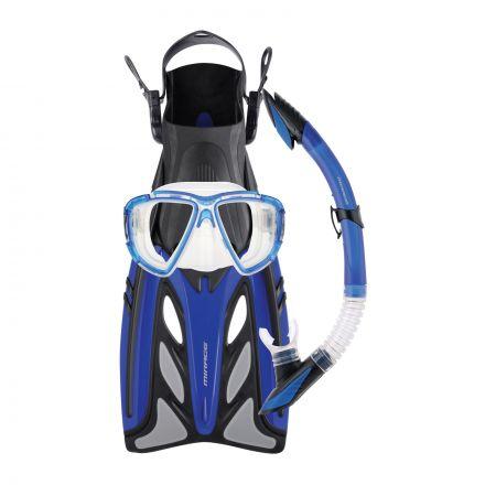 Mirage FSet43 Crystal Adult Mask, Snorkel & Fin Set - Blue