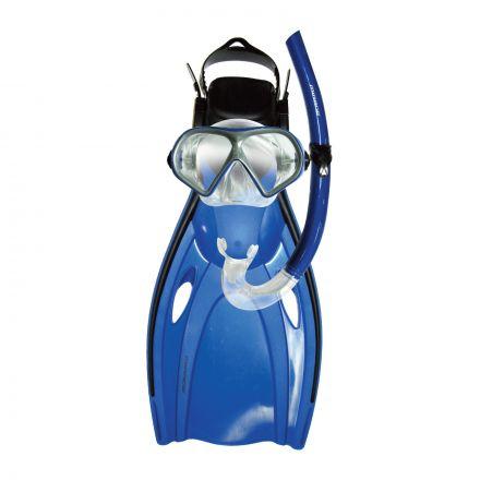 Mirage FSet12 Mission Adult Mask, Snorkel & Fin Set - Blue
