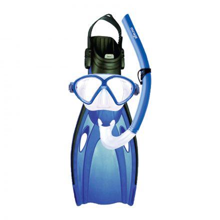 Mirage FSet05 Comet Junior Mask, Snorkel & Fin Set - Blue