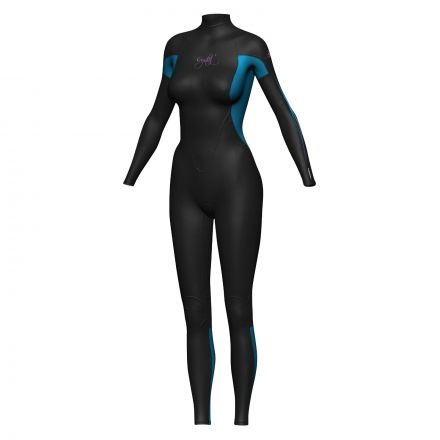 Crystal WS6 Ladies Superstretch Wetsuit 3/2mm - Blue/Black