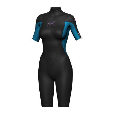 Crystal WS8 Ladies Superstretch Springsuit 2mm - Blue/Black