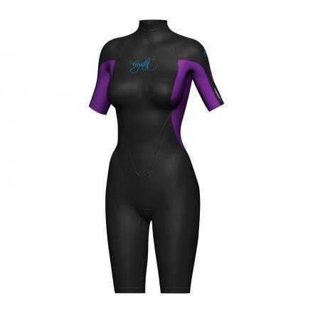 Crystal WS8 Ladies Superstretch Springsuit 2mm - Purple/Black
