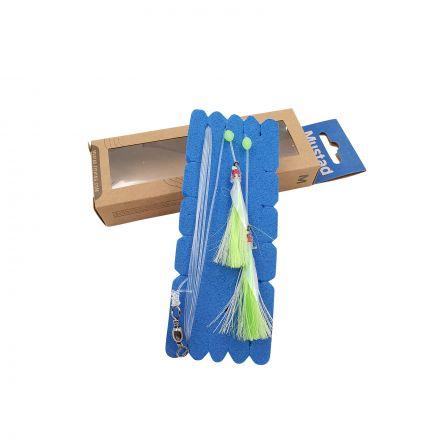 Mustad NZR01 Penetrator Flasher Rig - Lumo/Green