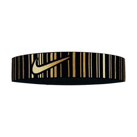 Nike Pro Metallic Head Band Black/Metallic Gold