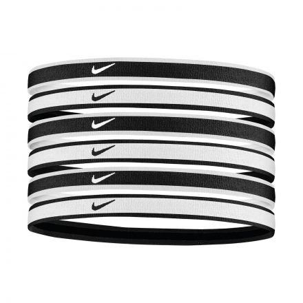 Nike Tipped Swoosh Sport Headbands 6Pk 2.0 White/Black/White