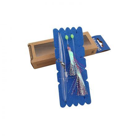 Mustad NZR02 Penetrator Flasher Rig - Green/Pink