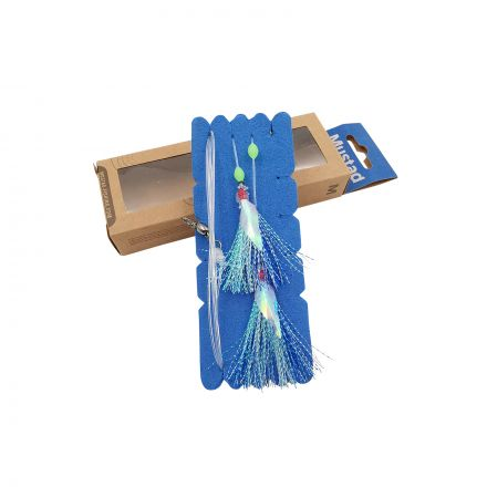 Mustad NZR04 Penetrator Flasher Rig - Blue/Silver